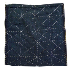 A Square Shaped Zokin: Grid and Crisscross Sashiko Stitching