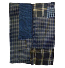A Check on Check Boro Textile: Hand Woven Cotton