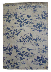 A Stenciled Paper Envelope: Blue Grapes and Squirrels