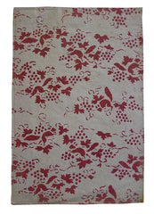 A Stenciled Paper Envelope: Red Grapes and Squirrels