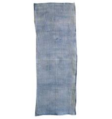 A Short Length of Suji Shibori: Indigo Dyed Cotton