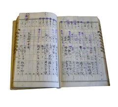 A Stamped and Tabbed Daifukucho: Old Ledger Book
