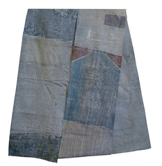 A Long Pieced Boro Textile: Starched and Pasted