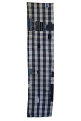 A Length of Heavily Patched Blue and White Boro Cloth: Indigo Dyed Cotton