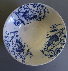 A 19th Century Inban Ware Bowl: Stencil Applied Design