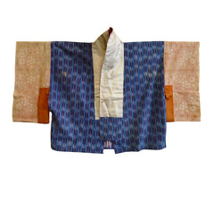 A Curiously Dyed Han Juban: Itajime Dyed Sleeves and Faux Kasuri Bodice