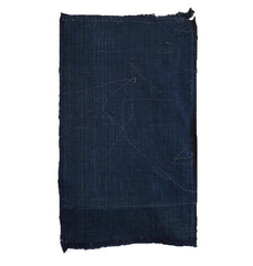 A Stitched Cotton Fragment: Indigo Dyed Cotton Boro