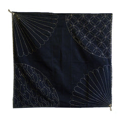 A Sashiko Stitched Furoshiki: Wonderfully Executed Patterns