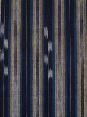 A Length of Beautiful 19th Century Kasuri Cotton: Stripes
