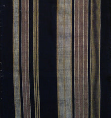 A Length of Handwoven Striped Cotton: Rich