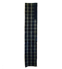 A Length of 19th Century Plaid Boro: Hand Spun Cottons