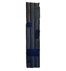 A Length of Striped Kasuri Boro Panel: Bold Patches