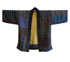A Piece-Contructed, Padded Silk Jacket: Many Different Stripe Samples