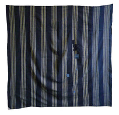 A Large Five Paneled Cotton Furoshiki: Two Stripes and Patches