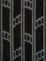 A Length of Striped Kasuri Cotton: Two Stitched Pieces