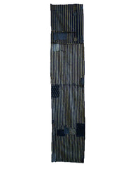 A Pieced and Patched Boro Length: Recycled Striped Kimono