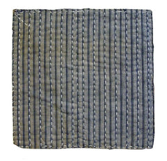 A Striped Zokin: Sashiko Stitched