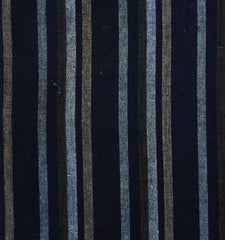 A Length of Handwoven Striped Cotton: Handsome and Patched