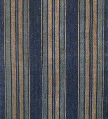 An Absolutely Beautiful Length of Hand Woven Striped Cotton: Hand Spun