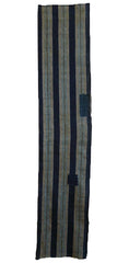 A Handloomed Length of Cotton: Wide Stripes and Patches