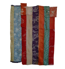 Three Pieces of 19th Century Silks: Hand Stitched Narrow Slivers
