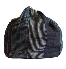 An Elegant and Subtle Cotton Komebukuro: Narrow Stripes and Small Checks