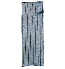 A Length of Indigo Dyed Cotton Shibori: Arimatsu