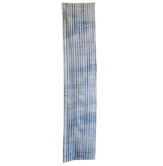 A Length of Indigo Dyed Cotton Shibori: Pleated