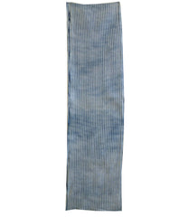 A Length of Indigo Dyed Shibori: Suji or Pleated