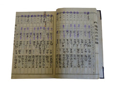 A Handwritten Ledger Book: Stamps