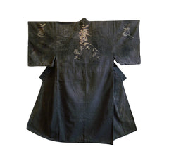 A Stamped and Resist Dyed Pilgrim's Kimono: Esoteric Buddhism