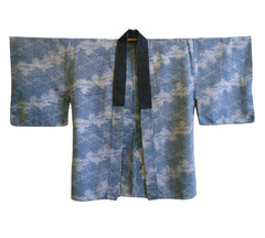 A Stunning 19th Century Katazome Jacket: Complex Resist Dyed Patterning