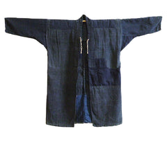 A Beautifully Patched and Worn Indigo Dyed Boro Jacket: Patina from Wear