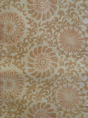 A Faded Length of Stenciled Cotton: Chrysanthemums
