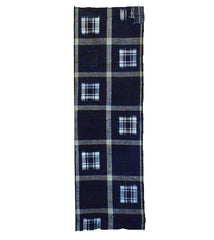 A Hand Woven Fragment of Patched Kasuri: Large Plaid