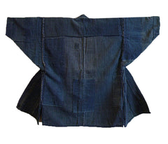 A Very Handsome Boro Noragi: Patched Indigo Dyed Cotton
