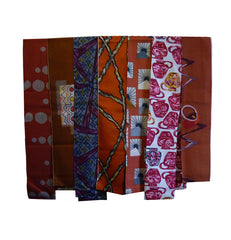 A Group of Seven Narrow Pieces of Meisen Silk: Patterns
