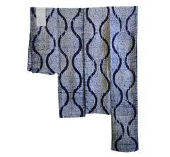 A Group of Four Narrow Shibori Pieces: Indigo Dyed Cotton