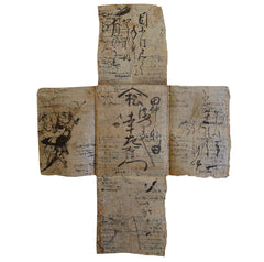 An Early 19th Century Tatoushi: Recycled Paper Kimono Wrapper