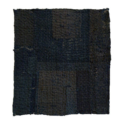 A Thickly Layered, Very Abraded Boro Fragment: Old Indigo Dyed Cotton