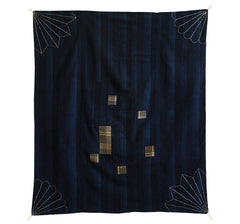 A Striped Sashiko Stitched Furoshiki: Good Age, Old Cotton