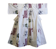 A Pieced Cotton Yukata: Hand Stitched from Tenugui