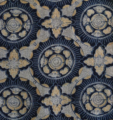 A Beautifully Designed and Dyed Katazome Length: Intricate 19th Century Design
