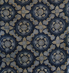A Richly Colored and Patterned 19th Century Katazome Length: Tight Design