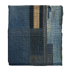 A Thickly Layered Sashiko Stitched Boro Mat: Nice Indigos