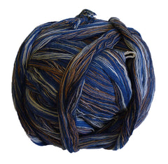 A Ball of Cotton Yarn: Blues, White, Brown