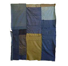 A Multi-Colored Boro Panel: Lightweight Cottons
