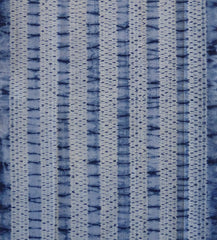 A Length of Wide Striped Taiten Shibori: Dark and Light