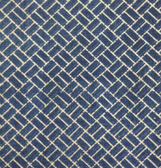 A Length of Stencil Resist Dyed Cotton: Woven Mat or Paving Stone Pattern