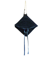 A Diamond Shaped Padded Apron: Indigo Dyed Cotton